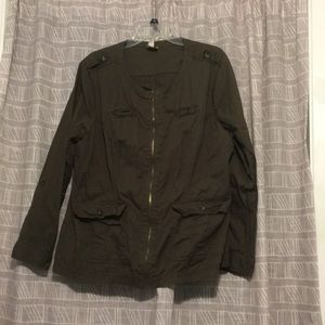 Olive zip up jacket